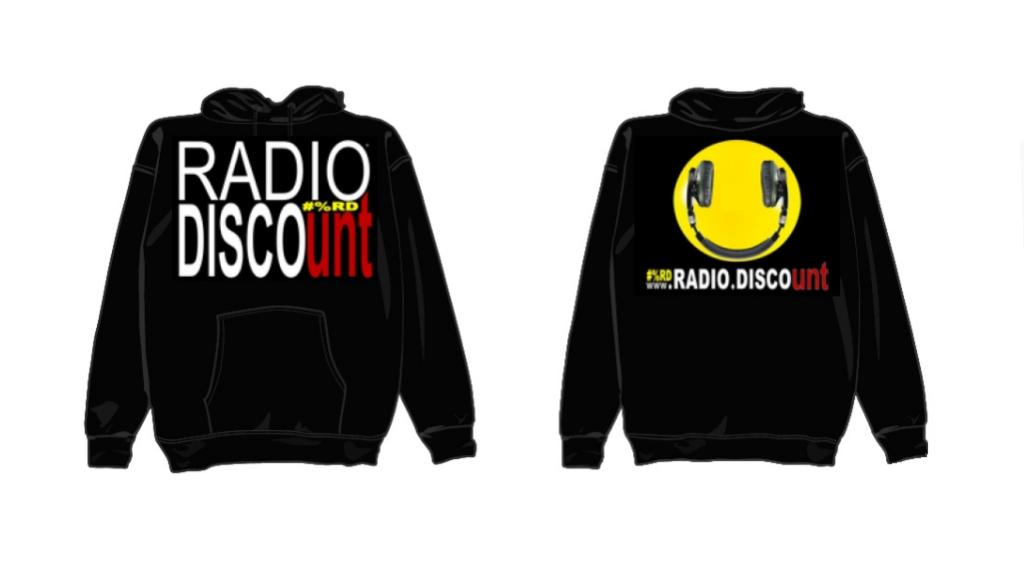 FELPA + CAPPUCCIO NERA UOMO RADIO DISCOUNT